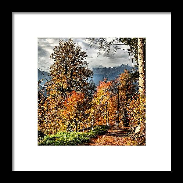 Iclandscapes Framed Print featuring the photograph Colori D'autunno by Luisa Azzolini