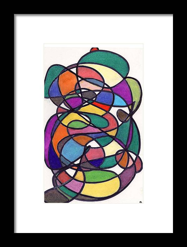 Colors Framed Print featuring the drawing Colors 24. by Peter Fitoram