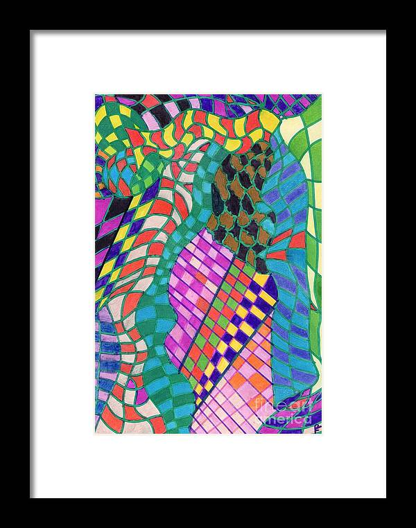 Colors.................. Framed Print featuring the drawing Colors 28. by Peter Fitoram