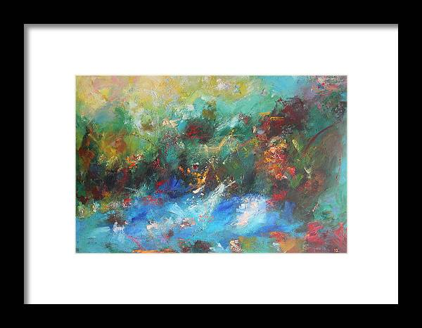 Colors Framed Print featuring the painting Colors Of Nature by Sagarika Sen
