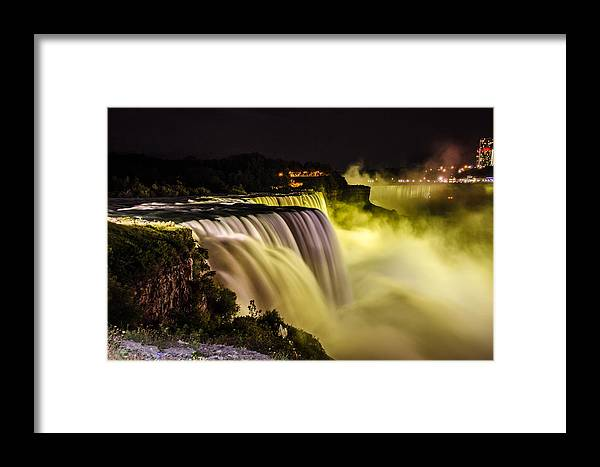 Niagra Falls Framed Print featuring the photograph Colors Of Niagra Falls by Mauricio Fernandez