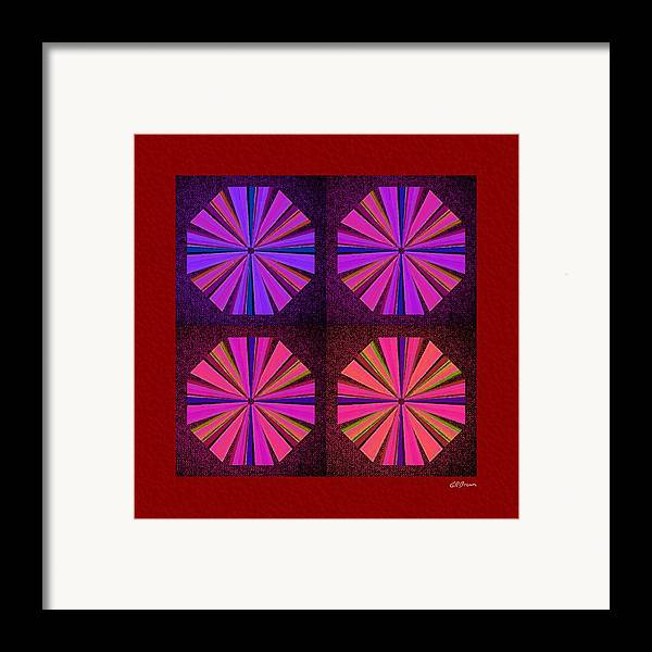 Colors Framed Print featuring the digital art Colors Of The Windmill by Greg Reed Brown