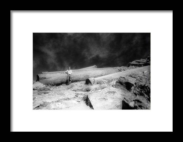 Colossal Colums Framed Print featuring the photograph Colossal Columns by Andonis Katanos