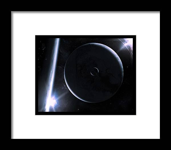 Space Framed Print featuring the digital art Colossal Distance by Timothy Engle