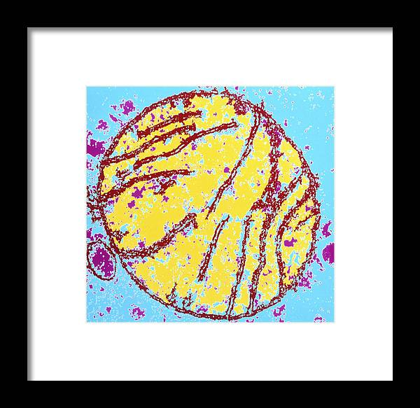 Mitochondria Framed Print featuring the photograph Coloured Tem Of A Mammal Mitochondrion by Dr Gopal Murti