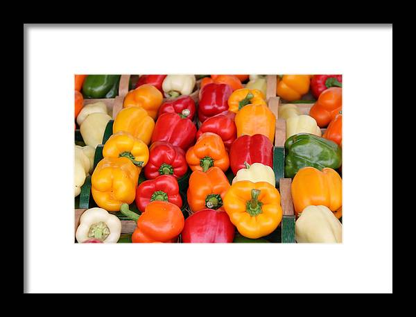 Bell Framed Print featuring the photograph Colourful Peppers by Kim French