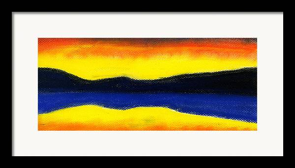 Hakon Framed Print featuring the painting Colours Of Sky by Hakon Soreide