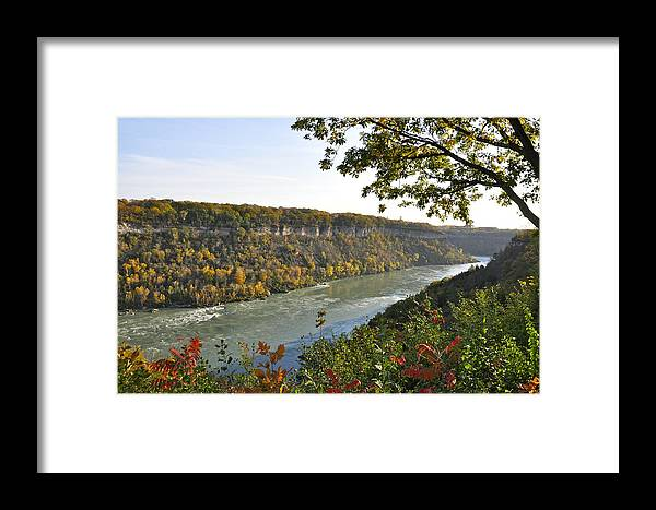 Niagara Falls Framed Print featuring the photograph Colours Of The Fall In The Niagara Glen by Rosemary Legge