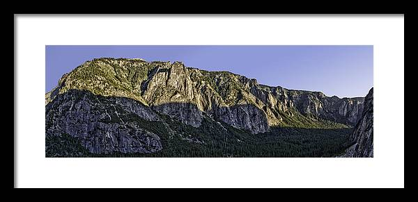 Yosemite Framed Print featuring the photograph Columbia Rock Outlook by Nathaniel Kolby