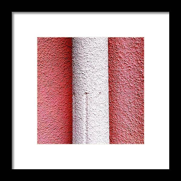 Pink Framed Print featuring the photograph Column detail by Julie Gebhardt