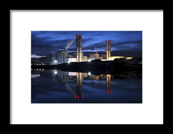 Staythorpe C Framed Print featuring the photograph Combined Cycle Gas Turbine Power Station by Martin Bond