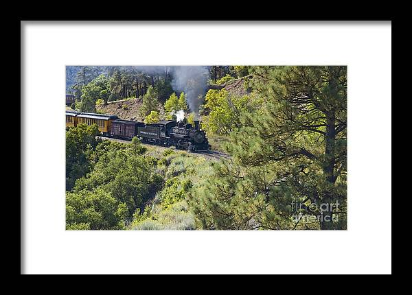 Drgw Framed Print featuring the photograph Coming 'round The Bend by Tim Mulina