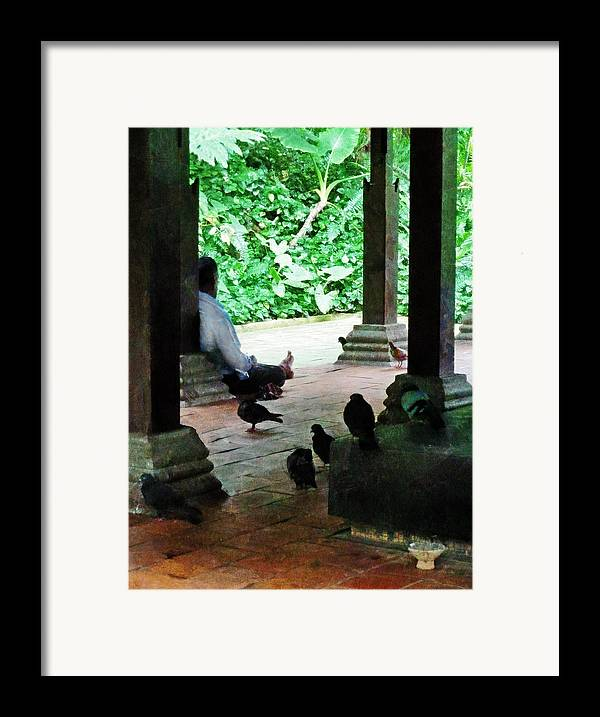 Commune Framed Print featuring the photograph Communing With The Birds by Steve Taylor