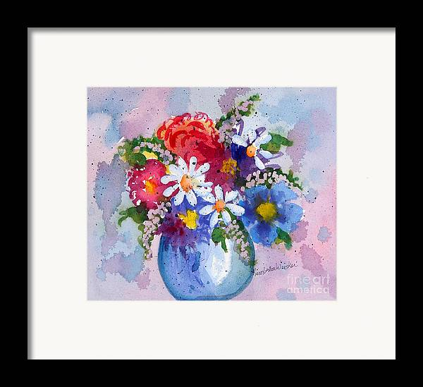 Daisies Framed Print featuring the painting Company Again by Kimberlee Weisker