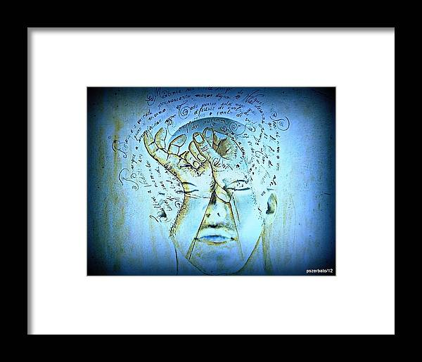 Reading Framed Print featuring the digital art Comprehension by Paulo Zerbato