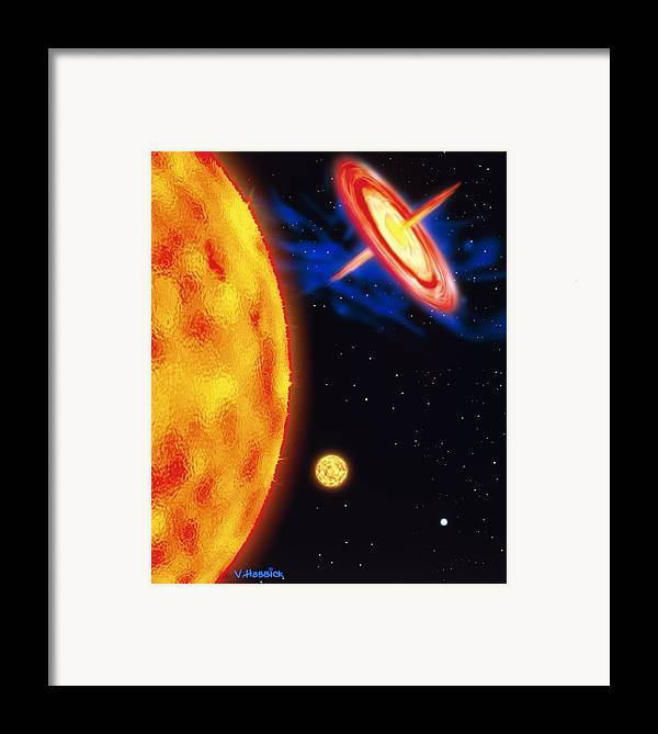 Star Evolution Framed Print featuring the photograph Computer Artwork Of Stages In A Star's Life by Victor Habbick Visions