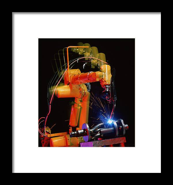 Computer Controlled Robot Framed Print featuring the photograph Computer-controlled Electric Arc-welding Robot by David Parker, 600 Group Fanuc