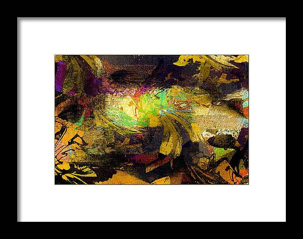 Abstract Framed Print featuring the digital art Concealed by Carrie OBrien Sibley