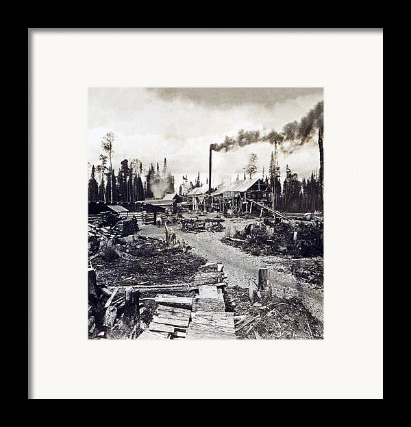Concord Framed Print featuring the photograph Concord New Hampshire - Logging Camp - C 1925 by International Images