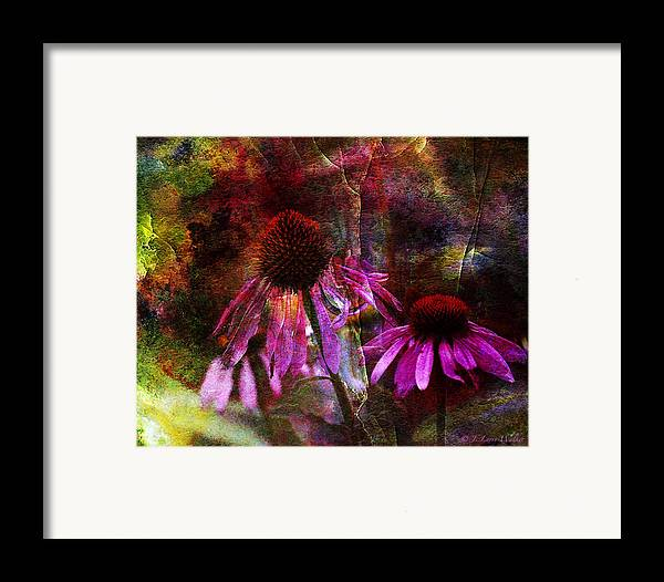 J Larry Walker Framed Print featuring the photograph Cone Flower Beauties by J Larry Walker