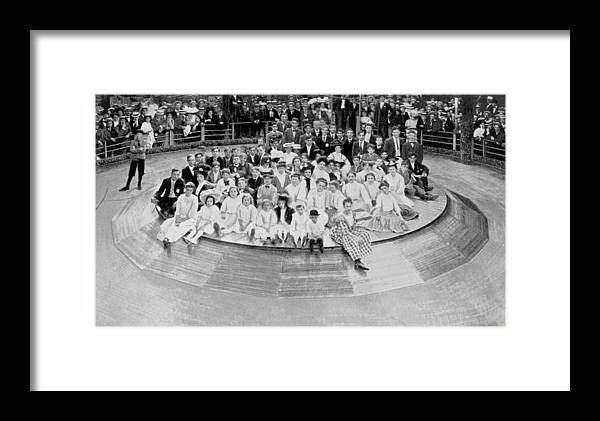 1900s Framed Print featuring the photograph Coney Island, Human Roulette Wheel by Everett