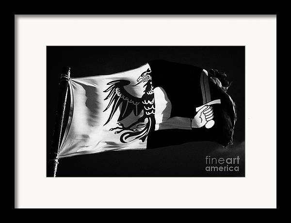 Republic Framed Print featuring the photograph Connacht Provincial Flag Flying In Republic Of Ireland by Joe Fox
