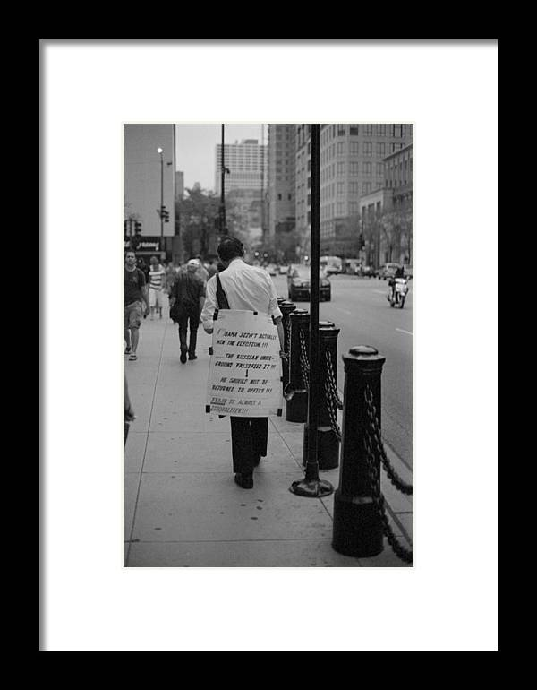 Chicago Framed Print featuring the photograph Conspiracy by Luis Esteves