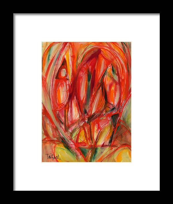 Abstract Framed Print featuring the painting Contemporary Painting Three by Lynne Taetzsch