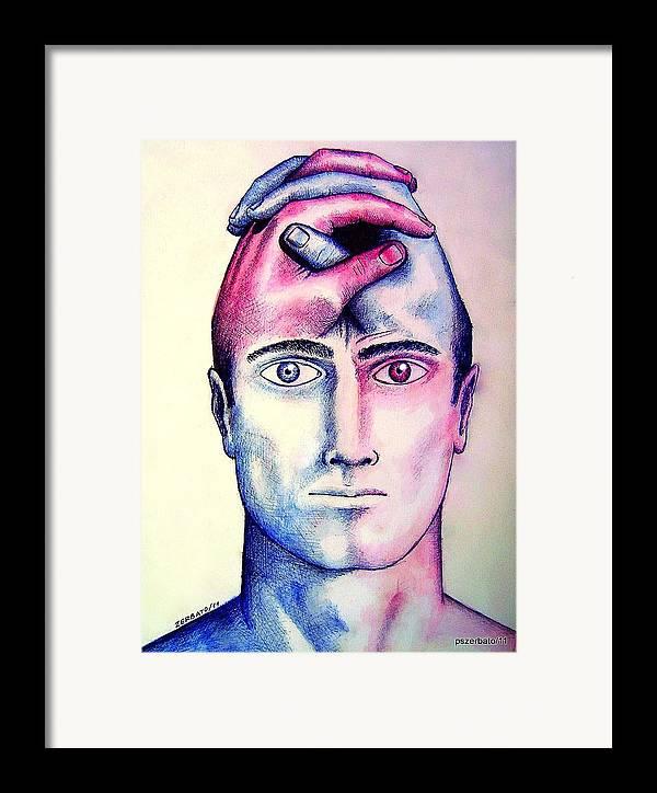 Left Hemisphere Framed Print featuring the digital art Contralateral Stimuli by Paulo Zerbato
