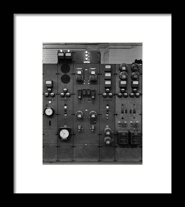History Framed Print featuring the photograph Control Panels Of The Detroit Edison by Everett