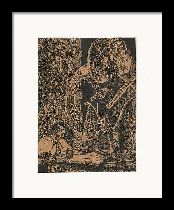 King Of Darkness Framed Print featuring the painting Conversation by Sirenko