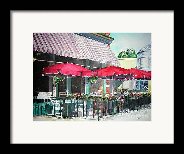 Fort Collins Framed Print featuring the painting Coopersmith's Pub by Tom Riggs