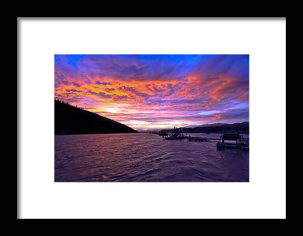 Sam Amato Photography Framed Print featuring the photograph Copper River Fish Wheel Sunset by Sam Amato