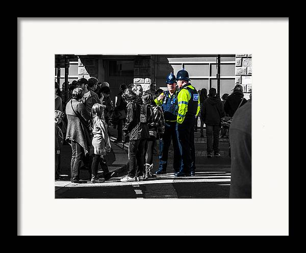 Police Framed Print featuring the photograph Coppers by Paul Howarth