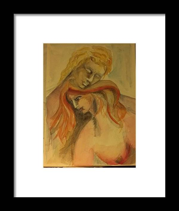 Donna Framed Print featuring the painting Coppia by Valeria Giunta