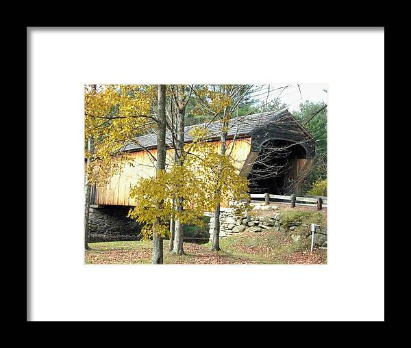 Nh Framed Print featuring the photograph Corbin Covered Bridge by Wayne Toutaint