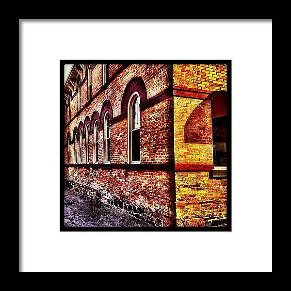 Building Framed Print featuring the photograph Corner Building by Christopher Campbell