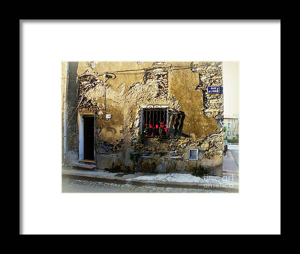 Provence Framed Print featuring the photograph Corner House by Lainie Wrightson