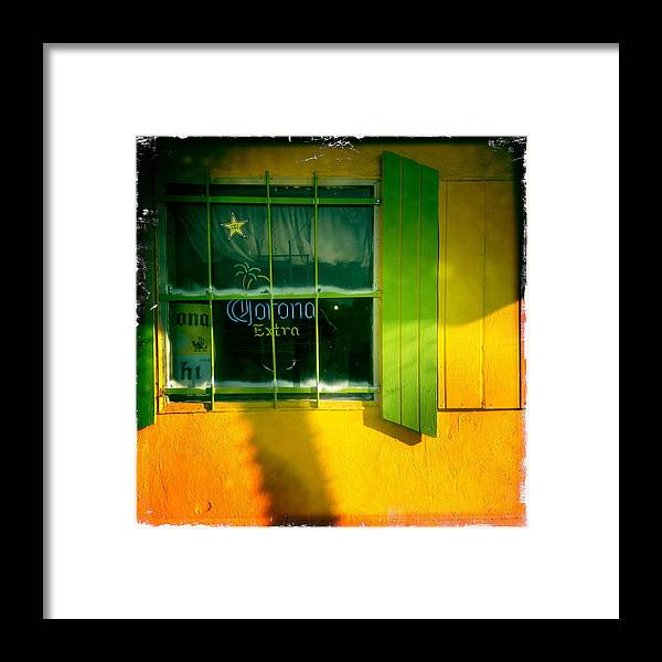 Window Framed Print featuring the photograph Corona by Suzanne Lorenz