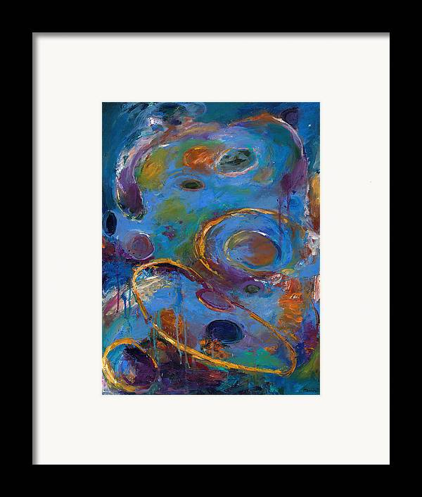 Abstract Expressionistic Framed Print featuring the painting Cosmos 237 by Johnathan Harris