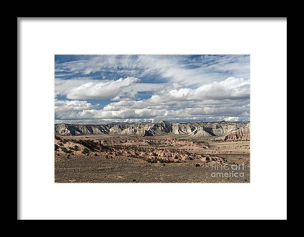 Southwest Framed Print featuring the photograph Cottonwood Canyon Badlands by Sandra Bronstein