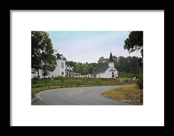 Church Framed Print featuring the photograph Country Church In Texture by Jost Houk