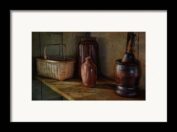 Country Framed Print featuring the photograph Country Cupboard by Robin-Lee Vieira