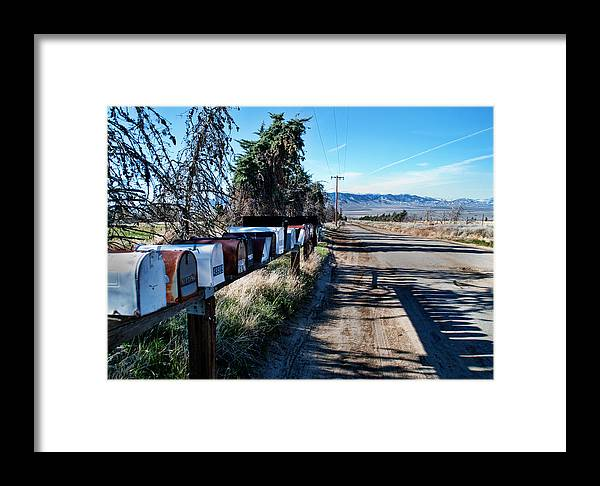 Mail Framed Print featuring the photograph Country Road by Norma Warden