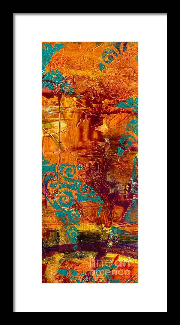 Acrylic Framed Print featuring the painting Courageous Journey I by Angela L Walker
