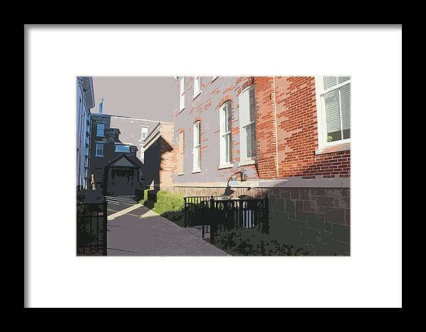 Law Framed Print featuring the photograph Courthouse Alley by Frank Nicolato