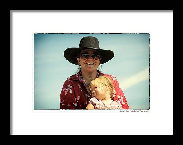 Courtney Framed Print featuring the photograph Courtney Wolverton And Prairie 2012 by Mary Williams Hyde