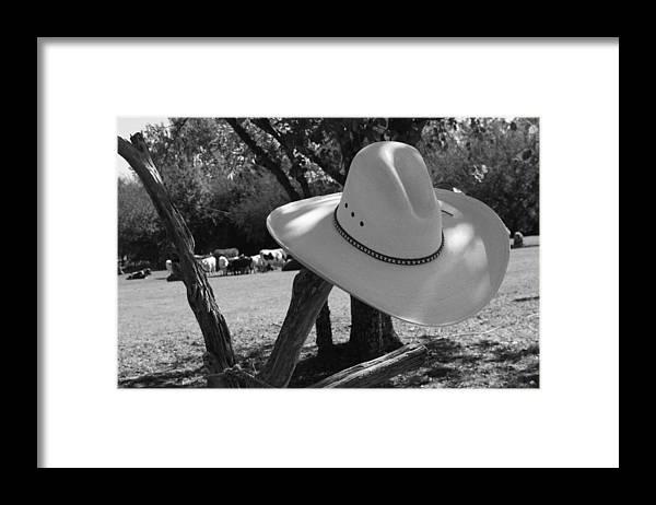 Cowboy Framed Print featuring the photograph Cowboy fashion by Toni Hopper
