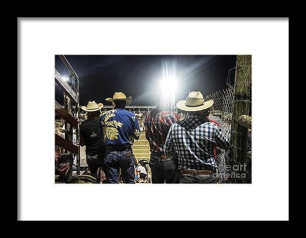 America Framed Print featuring the photograph Cowboys At Rodeo by John Greim