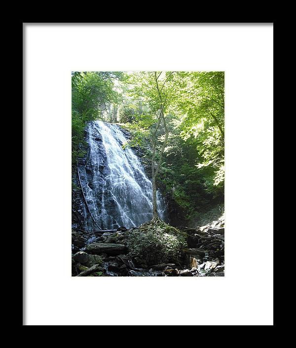 Landscape Framed Print featuring the photograph Crabtree Falls by Jennifer Eddiba